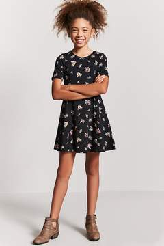 Forever 21 Girls Floral Print Dress (Kids)