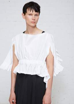 Comme des Garcons Ruffle Sleeve Top