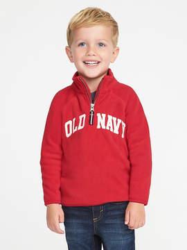 Old Navy Logo Performance Fleece Half-Zip Hoodie for Toddler Boys