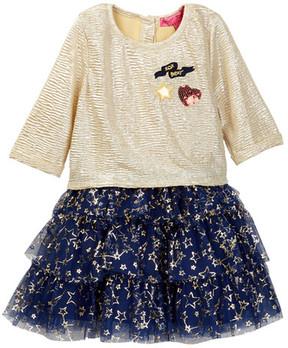 Betsey Johnson Gold Lame Top & Tulle Bottom Dress (Toddler Girls)