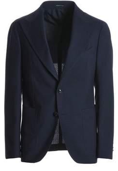 Tagliatore Men's Blue Wool Blazer.