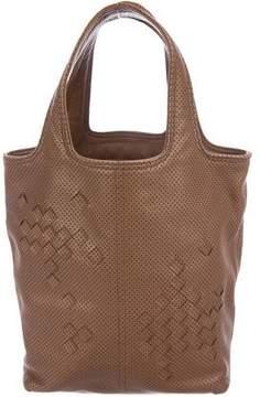 Bottega Veneta Perforated Leather Handle Bag