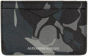 Alexander McQueen Blue Camo Card Holder