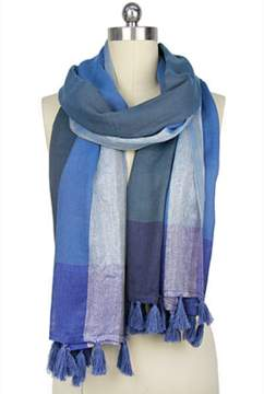 Saachi Subtle Shimmer Shades Of Blue Scarf.