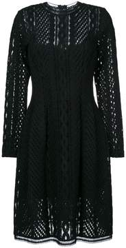Ermanno Scervino long sleeved sheer dress