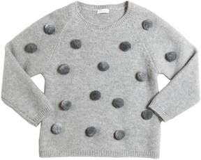 Il Gufo Merino Wool Sweater W/ Pompoms