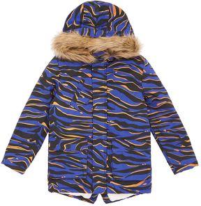 Kenzo Faux Fur Hood Trim Parka