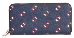 Marc Jacobs Women's Scream Saffiano Leather Continental Wallet - Blue - BLUE - STYLE