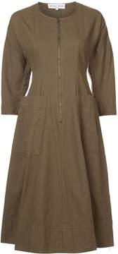 Apiece Apart zip-front A-line dress