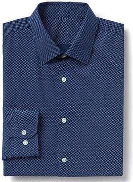 Gap Stretch Poplin dot print slim fit shirt