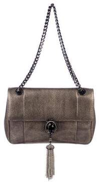 Judith Leiber Embellished Karung Evening Bag