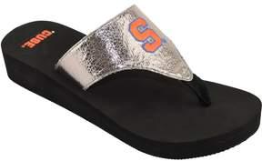 NCAA Women's Syracuse Orange Shine Platform Flip-Flops
