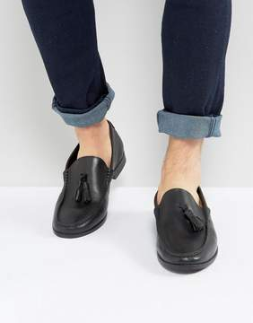 Frank Wright Tassel Loafers In Black Leather