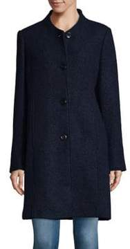 Ellen Tracy Button-Front Boucle Coat