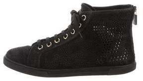 Louis Vuitton Logo High-Top Sneakers
