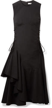 DAY Birger et Mikkelsen ADEAM - Asymmetric Lace-up Wool-blend Midi Dress - Black