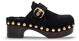 Car Shoe Women's Black Suede Wedges.