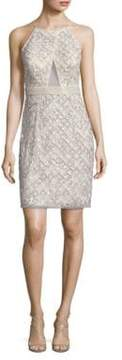 Aidan Mattox Sequined Sheath Dress