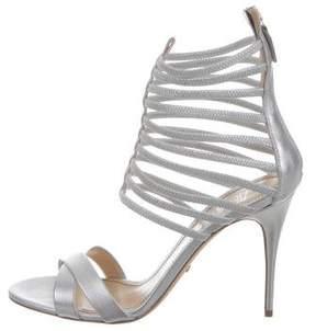 Jerome C. Rousseau Metallic Sacli Cage Sandals