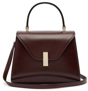 Valextra Iside Mini Leather Bag - Womens - Burgundy