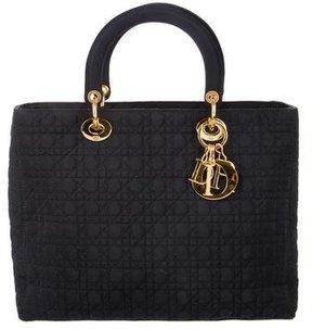 Christian Dior Canvas Lady Dior Bag
