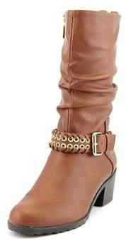 Thalia Sodi Womens Jannice Leather Almond Toe Mid-calf Riding Boots.