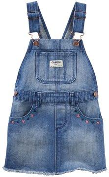 Osh Kosh Toddler Girl Frayed Denim Jumper