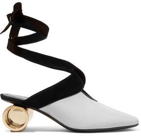 J.W.Anderson Suede-trimmed Leather Pumps - White