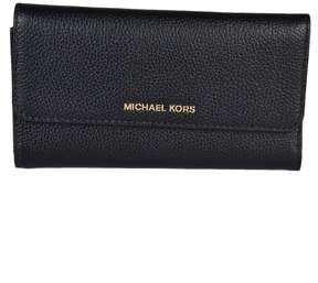 Michael Kors Mercer Tri-fold Wallet - BLACK - STYLE