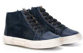 Pépé fur panel hi-top sneakers