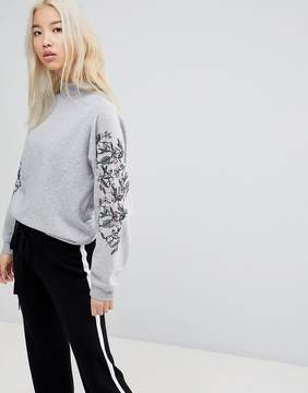 B.young Printed Sleeve Sweatshirt