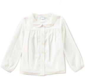 Edgehill Collection Little Girls 2T-6X Button-Front Long-Sleeve Top