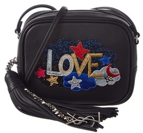 Saint Laurent Love Leather Blogger Bag. - BLACK - STYLE