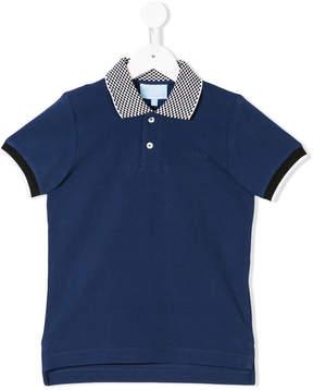 Lanvin Enfant check detail polo shirt
