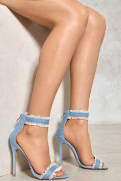 Nasty Gal nastygal A Fray to Remember Denim Heel
