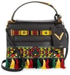 Valentino Tasseled Leather Top Handle Bag