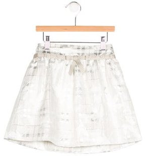 Rachel Riley Girls' Metallic Plaid Skirt