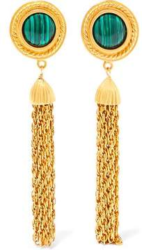Ben-Amun Gold-Tone And Stone Clip Earrings