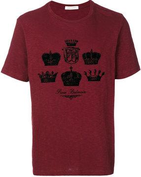 Pierre Balmain crown print T-shirt
