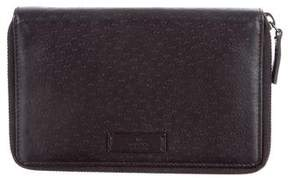Gucci Leather Continental Wallet - BLACK - STYLE