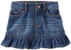 Osh Kosh Toddler Girl Ruffled Denim Skirt