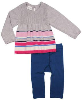 Cuddl Duds Striped Dress & Pants Set (Baby Girls)