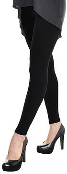 Angelina Black Winter Warmth Fleece-Lined Opaque Leggings - Women