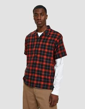 Carhartt Wip S/S Lyndon Shirt in Lyndon Check/Goji