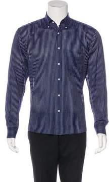 Umit Benan Striped Woven Shirt