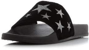 Head Over Heels *Head Over Heels by Dune Black 'Linders' Flat Sandals