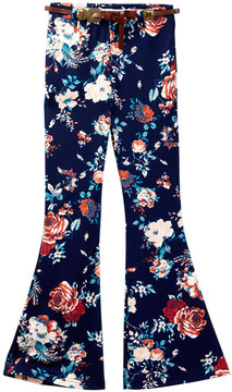 My Michelle mymichelle Floral Flare Pant (Big Girls)
