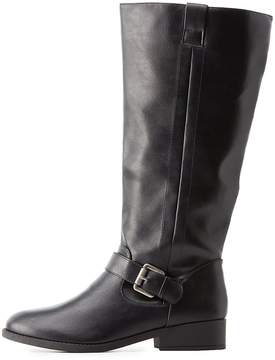 Charlotte Russe Buckled Riding Boots