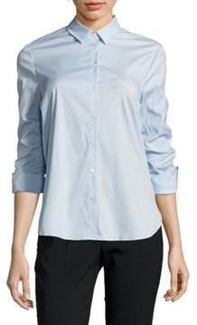 Basler Solid Point-Collar Shirt