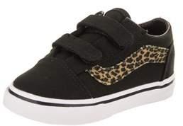 Vans Toddlers Old Skool V (mini Leopard) Skate Shoe.